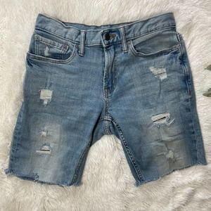 Old Navy Relaxed Slim Jean Denim Shorts Distressed